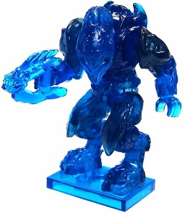 Halo Wars Mega Bloks LOOSE Mini Figure Covenant Trans Blue Elite Zealot with Needler  [Series 7]
