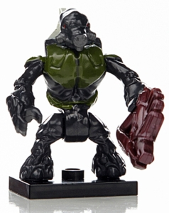 Halo Wars Mega Bloks LOOSE Mini Figure Dark Green Covenant Grunt with Needler [Series 7]