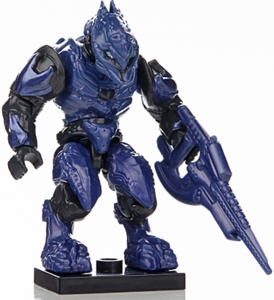 Halo Wars Mega Bloks LOOSE Mini Figure Purple Covenant Elite Zealot with Carbine [Series 7]