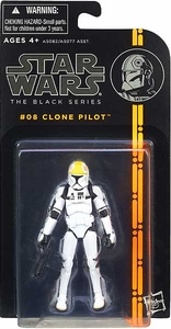 Star Wars Black 3.75 Inch Series 1 Action Figure Clone Pilot [Episode III]