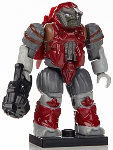 Halo Wars Mega Bloks LOOSE Mini Figure Red Covenant Brute Jump Pack with Mauler [Series 7]