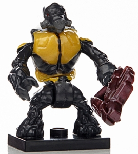 Halo Wars Mega Bloks LOOSE Mini Figure Yellow Covenant Grunt with Needler [Series 7] BLOWOUT SALE!
