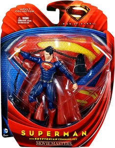 Man of Steel Movie Masters Action Figure Superman with Kryptonian Command Key