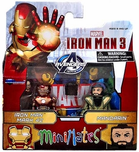 Marvel MiniMates Series 49 Iron Man 3 Movie Mini Figure 2-Pack Iron Man Mark 42 & Mandarin