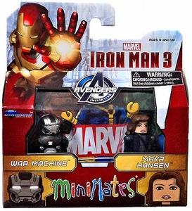 Marvel MiniMates Series 49 Iron Man 3 Movie Mini Figure 2-Pack War Machine & Maya Hansen