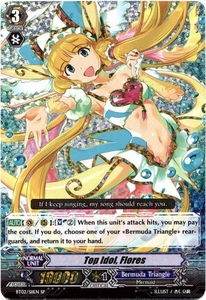 Cardfight Vanguard ENGLISH Onslaught of Dragon Souls Single Card SP BT02-S11 Top Idol, Flores