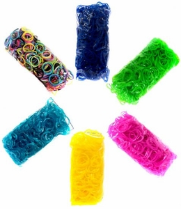 Official Rainbow Loom 3600 RANDOM COLOR Rubber Bands [Includes 150 C-Clips!]