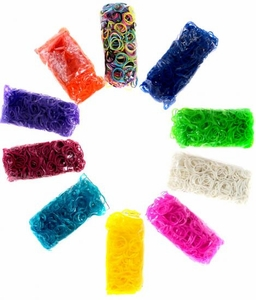 Official Rainbow Loom 6000 RANDOM COLOR Rubber Bands [Includes 250 C-Clips!]