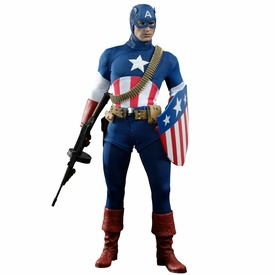 Captain America The First Avenger Hot Toys Exclusive 1/6 Scale Collectible Figure Captain America [Star Spangled Man Version]