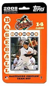 Topps MLB Baseball Cards 2008 Baltimore Orioles 14 Card Team Set