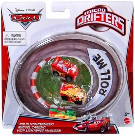Disney / Pixar CARS Movie Micro Drifters 3-Pack Rip Clutchgoneski, Miguel Camino & WGP Lightning McQueen
