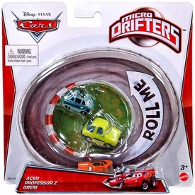 Disney / Pixar CARS Movie Micro Drifters 3-Pack Acer, Professor Z, Grem