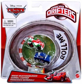 Disney / Pixar CARS Movie Micro Drifters 3-Pack Brent Mustangburger, Darrell Cartrip & Francesco Bernoulli