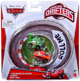 Disney / Pixar CARS Movie Micro Drifters 3-Pack Lightning McQueen, Wingo & Snot Rod