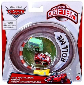 Disney / Pixar CARS Movie Micro Drifters 3-Pack Team Fillmore, Ramone & Cruisin' Lightning McQueen