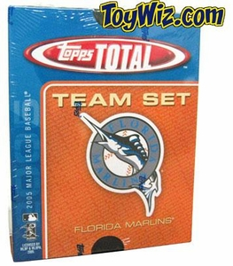 2005 Topps Total Florida Marlins Baseball Card Team Set