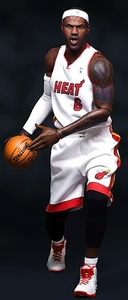Enterbay Real Masterpiece 1/6 Collectible Figure LeBron James [Miami Heat] Pre-Order ships July
