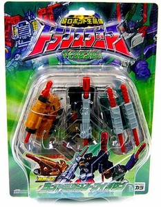 Transformers Japanese Armada MM-03 3-Pack Land Military Microns [Shot, Bomb & Crack]