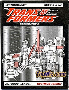 Transformers Loose Hasbro Instruction Booklet Gen 2 Laser Rod Optimus Prime C-7