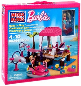 Barbie Mega Bloks Set #80244 Tropical Resort