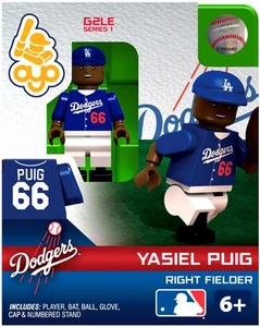 OYO Baseball MLB Generation 2 Building Brick Minifigure Yasiel Puig [Los Angeles Dodgers]