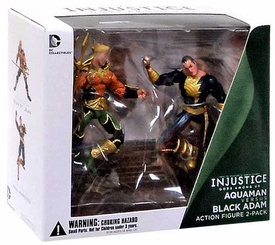 DC Injustice: Gods Among Us 3.75 Inch Action Figure 2-Pack Aquaman & Black Adam New!