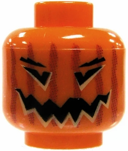 LEGO LOOSE Head Jack O' Lantern [Version 2]