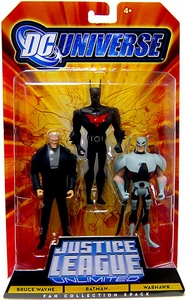 DC Universe Justice League Unlimited Fan Collection Action Figure 3-Pack Bruce Wayne, Batman & Warhawk