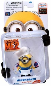 Despicable Me 2 Poseable 2 Inch Action Figure Minion Baker