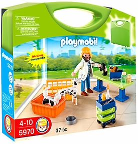 Playmobil Carry Case Playset #5870 Vet Clinic