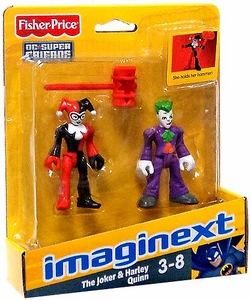 Imaginext DC Super Friends Mini Figure 2-Pack Joker & Harley Quinn