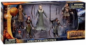 Hobbit: Desolation of Smaug 3.75 Inch Action Figure 5-Pack Mirkwood Hero Pack [Legolas, Tauriel, Thranduil, Fili & Kili]