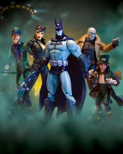 DC Direct Batman Arkham City Series 2 Set of 5 Action Figures [Batman, Riddler, Mad Hatter, Hush & Catwoman]