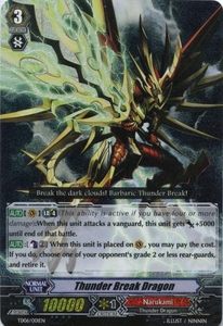 Cardfight Vanguard ENGLISH Resonance of the Thunder Dragon Single Card Fixed TD06-001EN Thunder Break Dragon