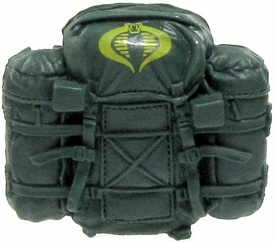 GI Joe 3 3/4 Inch LOOSE Action Figure Accessory Green Cobra Backpack