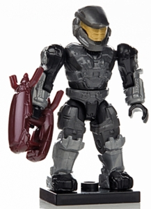 Halo Wars Mega Bloks LOOSE Mini Figure Black & Gray UNSC Spartan Mark V with Energy Rifle [Series 7]