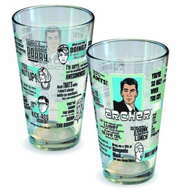 Archer Quotes Pint Glass Pre-Order ships April