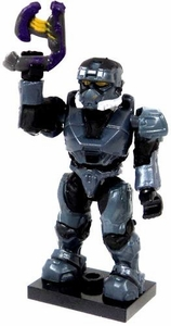 Halo Wars Mega Bloks LOOSE Mini Figure Blue Steel UNSC Spartan EOD with Dual Pistols