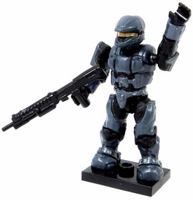 Halo Wars Mega Bloks LOOSE Mini Figure Blue Steel UNSC Spartan Scout with Shotgun