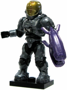 Halo Wars Mega Bloks LOOSE Mini Figure UNSC Blue Steel EVA Spartan with Energy Rifle