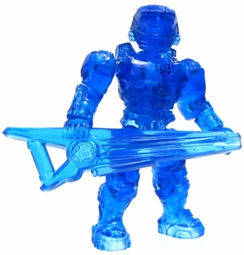Halo Wars Mega Bloks LOOSE Mini Figure UNSC Hologram Spartan with Beam Rifle RARE CHASE!