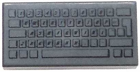 LEGO LOOSE Accessory 1 x 2 Dark Dark Gray Keyboard Tile
