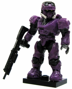 Halo Wars Mega Bloks LOOSE Mini Figure UNSC Purple EOD Spartan with Shotgun