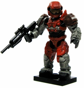 Halo Wars Mega Bloks LOOSE Mini Figure UNSC Red Grenadier Spartan with Battle Rifle