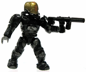 Halo Wars Mega Bloks LOOSE Mini Figure UNSC Stealth EVA Spartan with Silenced SMG