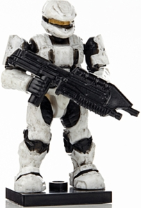 Halo Wars Mega Bloks LOOSE Mini Figure UNSC White Spartan Scout with Assault Rifle