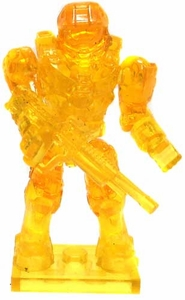Halo Wars Mega Bloks LOOSE Mini Figure UNSC Trans Yellow Master Chief with DMR