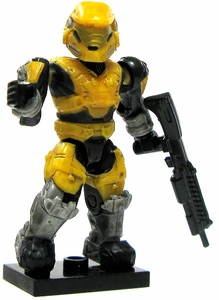 Halo Wars Mega Bloks LOOSE Mini Figure UNSC Yellow Mark V Spartan with Shotgun