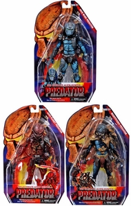NECA Predator Movie Series 10 Set of 3 Action Figures [Lava Planet, Hive Wars & Nightstorm]