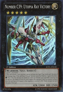 YuGiOh Zexal Judgment of the Light Single Card Super Rare JOTL-EN048 Number C39: Utopia Ray Victory